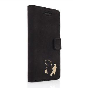 book case nubuk black gold