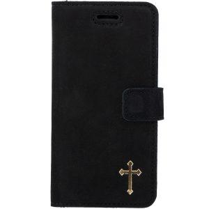 book case nubuk black krzyż gold