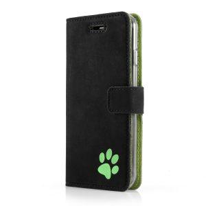 book case nubuk black łapa green