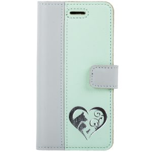 BOOK PASTEL GRAY / MINT ANIMALS SILVER