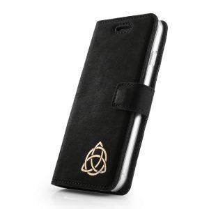 book case nubuk black symbol celtycki gold TRISKELION