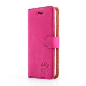 book case nubuk pink łapa