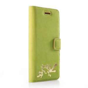 book nubuk green gold żaba