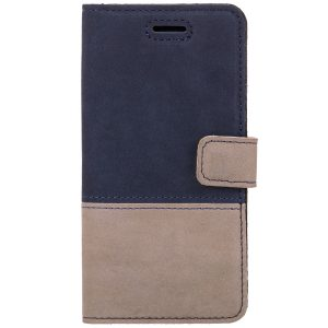 book case nubuk beige blue
