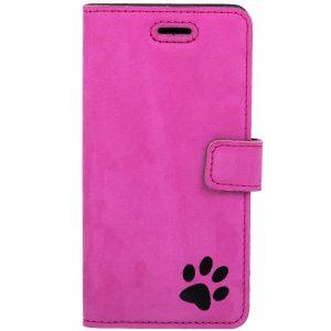 book case nubuk pink łapa black