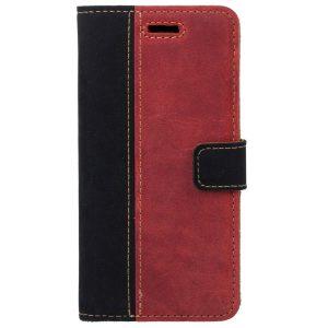 BOOK CASE NUBUK BLACK RED