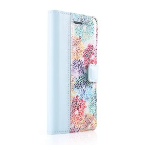 BOOK PASTEL BLUE / FLOWERS PEACH